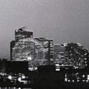 Night Scene Of Yokohama Art Print by Snap Shooter jp