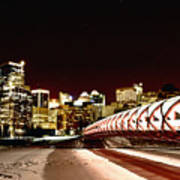 Night Shots Calgary Alberta Canada Art Print