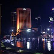 Night Skyline Of Jakarta Indonesia 3 Art Print