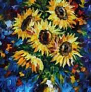 Night Sunflowers Art Print