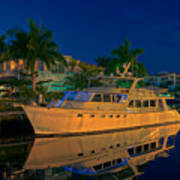 Night Time In Fort Lauderdale Art Print