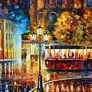 Night Trolley Art Print