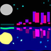 Night View Art Print