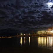Night View Of Bar Harbor Maine Art Print