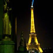 Night Vision - Eiffel Beauty Art Print
