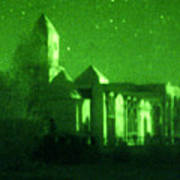 Night Vision Mosque Kandahar Art Print