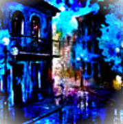 Night Walking In New Orleans Art Print