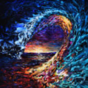 Night Wave Art Print