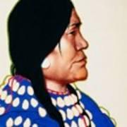 Night Woman, A Blackfeet Of Montana Art Print
