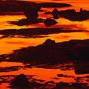 Nightfall Silhouettes Art Print