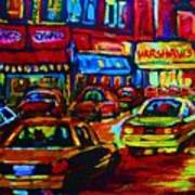 Nightlights On Main Street Art Print