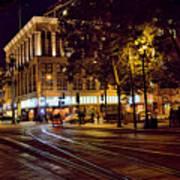 Nights, Lights Downtown Sj Art Print