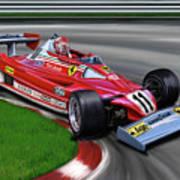 Niki Lauda F-1 Ferrari Art Print