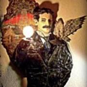 Nikola Tesla At Wardenclyffe Art Print