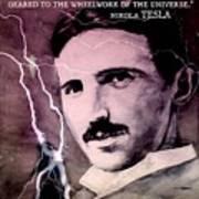 Nikola Tesla - Quote Art Print