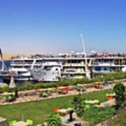 Nile Cruise Ships Aswan Art Print