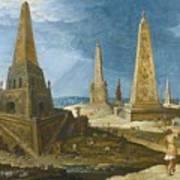 Nimrod Amongst The Monuments Art Print
