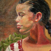 Nina de Trenza Art Print