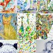 Nine Animals - Version 1 Art Print