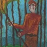 Nine Of Wands Illustrated Art Print