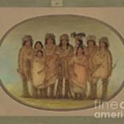 Nine Ojibbeway Indians In London Art Print