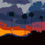 Nine Palms Art Print