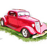 Nineteen Thirty-two Ford Coupe Art Print