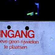 No Bicycle Parking Art Print