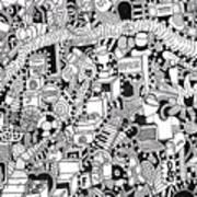 No Boundaries Art Print by Chelsea Geldean