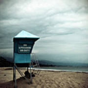 Santa Barbara Life Guard Art Print