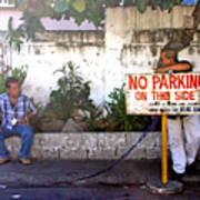 No Parking This Side Art Print