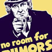 No Room For Rumors - Uncle Sam Art Print