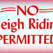 No Sleigh Riding Art Print