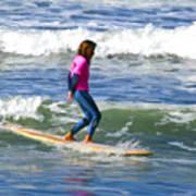 No Stress Surfing Art Print