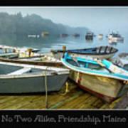 No Two Alike, Friendship, Maine Art Print