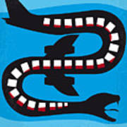 No501 My Snakes On A Plane Minimal Movie Poster Art Print
