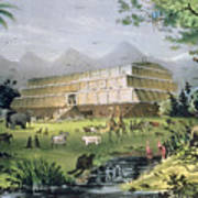 Noahs Ark Print by Currier and Ives