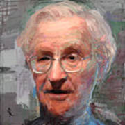 Noam Chomsky Portrait 1059 Art Print