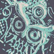 Nocturnal The Blue Owl Art Print