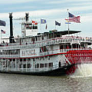 Nola Natchez Riverboat Art Print