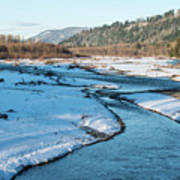 Nooksack River On A December Afternoon Art Print