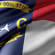 Norh Carolina State Flag Art Print