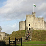Norman Keep At Cardiff Castle Art Print