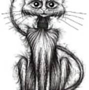 Norman The Cat Art Print