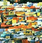 North African Townscape Art Print by Robert Tyndall