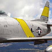 North American F-86 Sabre Art Print