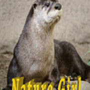 North American Otter Nature Girl Art Print
