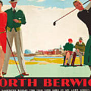 North Berwick, A London And North Eastern Railway Vintage Advertising Poster Art Print