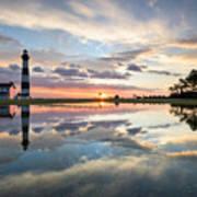 North Carolina Bodie Island Lighthouse Sunrise Art Print