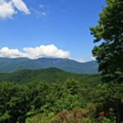 North Carolina Mountains In The Summer Art Print